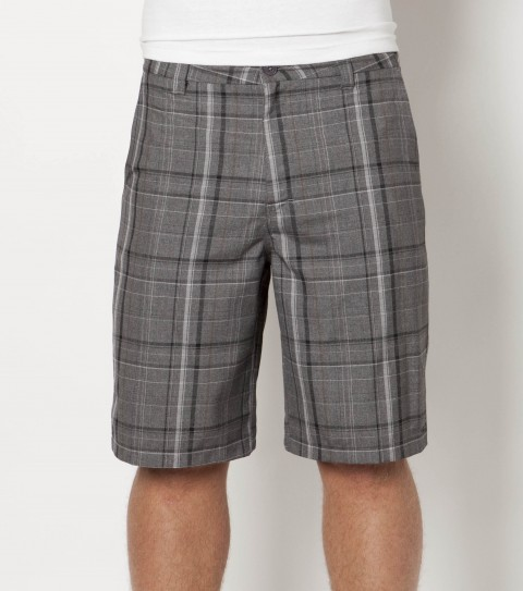 Surf O'Neill  plaid walkshorts with heavy enzyme/silicone wash; standard fit; contrast interior fabrics; and logo embroideries. - $44.50
