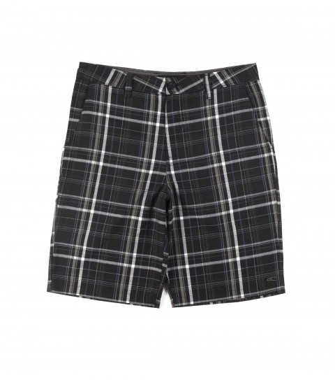 Surf O'Neill mens plaid walkshort with heavy enzyme/silicone wash; standard fit; contrast fabric inner waistband; welt back pockets with logo embroideries. - $39.99