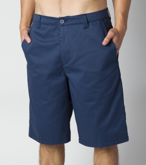 Surf O'Neill Chino Shorts. 65% polyester/35% cotton solid twill with silicone wash; standard chino fit; cell pocket; hidden stash pouch in pocket bags; contrast interior fabrics; and logo embroideries. - $34.99