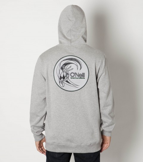 Surf O'Neill cotton poly pullover hooded fleece with softhand screenprint. - $49.50
