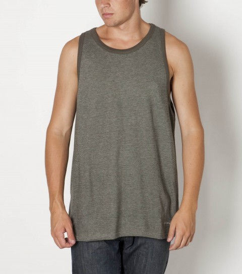 Surf O'Neill 100% cotton knit tank with enzyme/silicone wash. Standard fit with logo embroideries. - $29.50