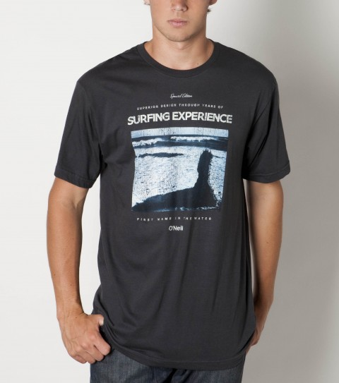 Surf O'Neill 100% ringspun cotton; prewashed 30 singles slim fit tee shirt with softhand screenprint. - $22.00