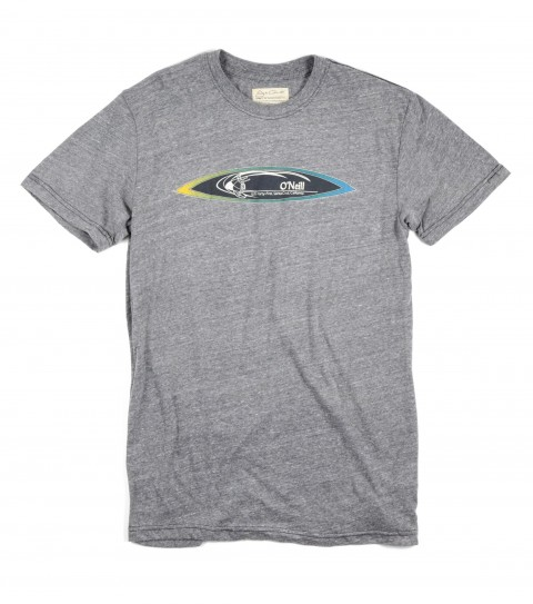 Surf O'Neill Stretch Tee.  50% Cotton / 38% Poly / 12% Rayon.  Tri-blend tee with softhand screenprint. - $14.99