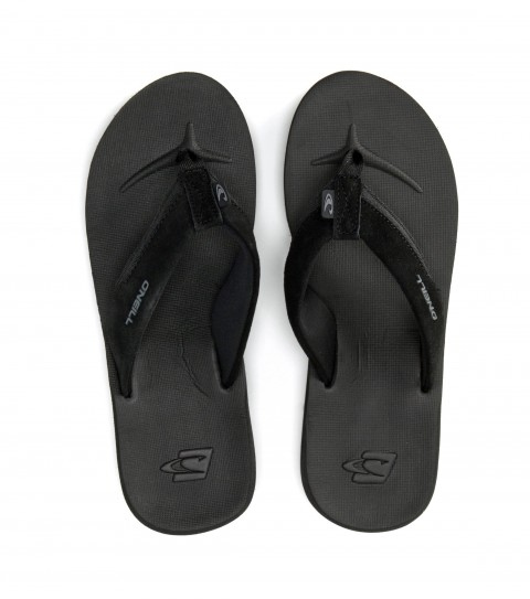 Entertainment O'Neill sandals with suede leather and webbing upper; silicone injection and embossed logos; compression molded eva footbed; anatomically constructed arch support; clean and mean outsole. - $15.99