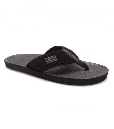 Entertainment O'Neill sandals with synthetic nubuck leather upper; airmesh lining; embroidered and screen printed logos; contoured compression molded eva footbed; anatomically constructed arch support; and rubber outsole. - $14.99