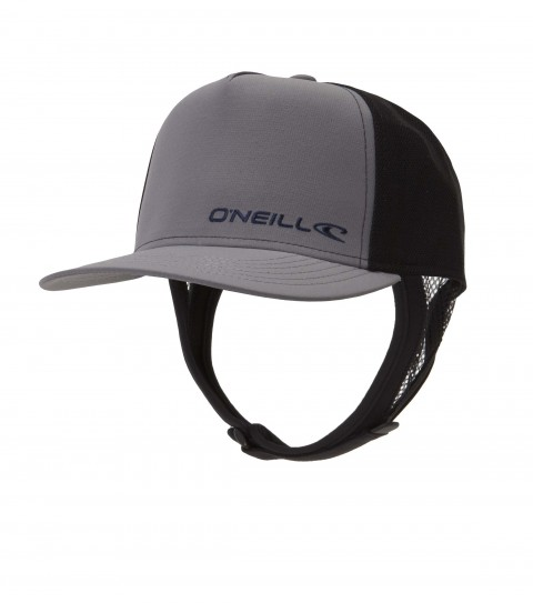 Surf O'Neill nylon; mesh and neoprene surf hat with front embroidery; snap back closure and removable chin neoprene strap. - $18.99