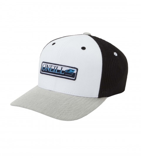 Surf O'Neill Pryor Hat.  Twill / stretch mesh  5 panel flex fit trucker hat with center front woven label and small back embroideries and slight curved visor.  X fit.  One size fits most. - $24.00