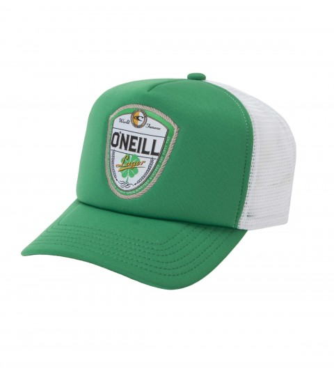Surf O'Neill polyester/foam/mesh 5 panel deep fit trucker hat with front woven label; bottle opener; snap back closure and slight curved visor. - $22.00