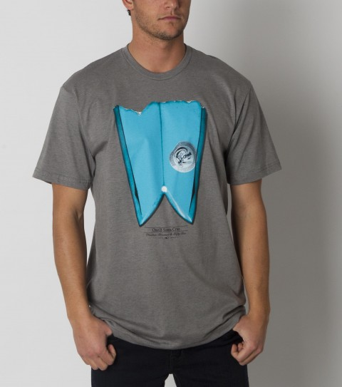 Surf O'Neill Frontier Tee.  50% Cotton / 50% Poly.  30 Singles slim fit heather tee with softhand screenprint. - $15.99