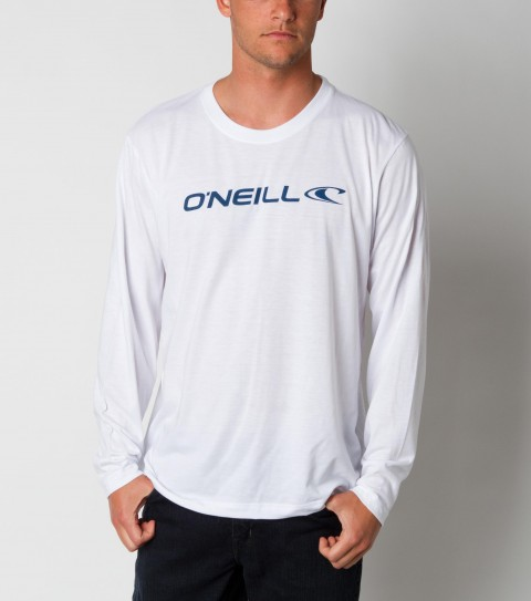 Surf O'Neill Lock Up Longsleeve Tee.  100% Ringspun cotton.  20 Singles basic fit tee with softhand screenprint. - $32.00