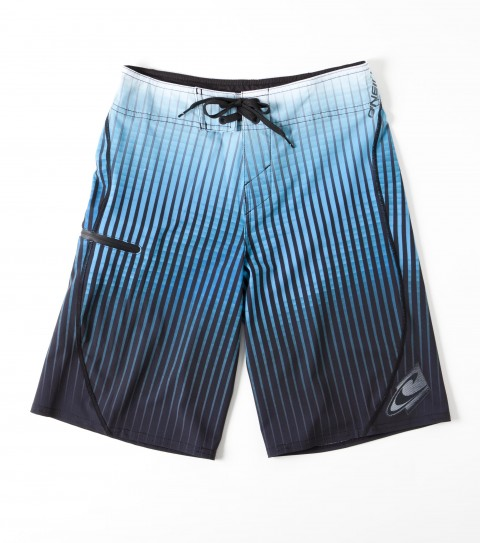 Surf O'Neill Boys Hyperfreak Boardshorts.  New hyperfreak stretch.  Engineered printed boardshort with super fly 2.0 closure; locking drawcord; no inseam; welded pocket and hem; embroidered and screened logos. - $45.99