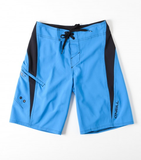 Surf O'Neill Boys Epic Freak Boardshorts.  New techstretch.  21'' Outseam features all over printed boardshort with superfly 2.0 closure; stretch side panels; locking drawcord; welt zip pocket; embroidered and screened logos. - $32.99