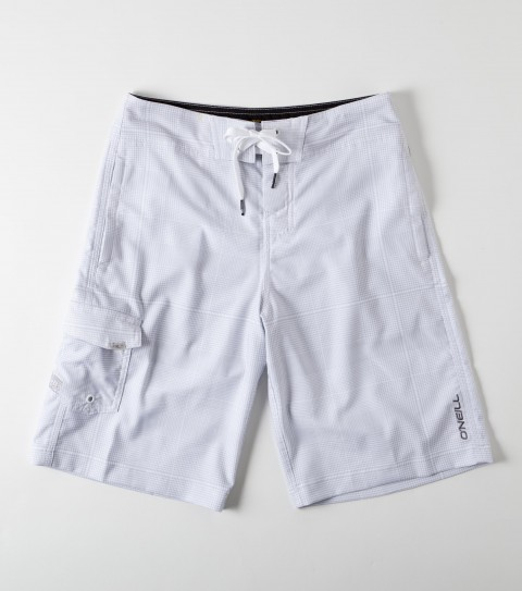 Surf O'Neill Boys Wall Street Stretch Boardshorts.  New hyperfreak stretch.  21'' Outseam features engineered printed boardshort with super fly 2.0 closure; locking drawcord ; no inseam ;welded pocket and hem; embroidered and screened logos. - $32.99