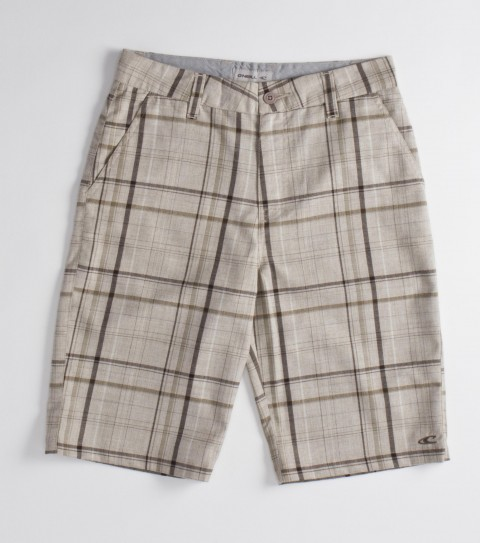 Surf O'Neill Boys Strauss Boys Shorts.  100% Cotton yarn dye plaid walkshort; heavy enzyme / silicone wash; standard fit; contrast interior fabrics; logo embroideries and labels. - $30.99