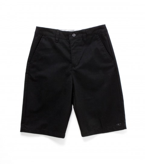 Surf O'Neill boys shorts. Cotton solid twill with silicone wash; standard chino fit; contrast interior fabrics and O'Neill logo embroideries. - $30.99