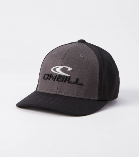 Surf O'Neill Boys Staple Hat.  Wooly combed stretch fabric;  6 panel flex fit hat with center front and small back embroideries and curved visor.  X fit. - $22.00