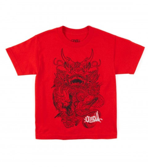 Surf O'Neill Boys Akira Tee. 100% ringspun cotton; 20 singles basic fit tee with softhand screenprint. - $11.99