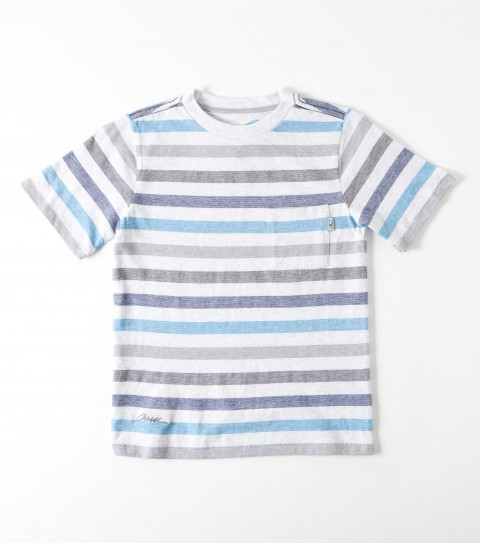 Surf O'Neill Kids Collapse Shirt.  100% Cotton.  Heather stripe yarn dye knit shirt; heavy enzyme / silicone softener wash; standard fit; chest pocket; logo embroideries and labels. - $20.99