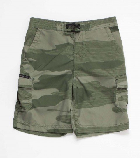 Surf O'Neill kids nylon ripstop 19'' outseam Hybrid Shorts features allover print; zipper fly; front side pockets; cargo pockets and woven patch label. - $32.99