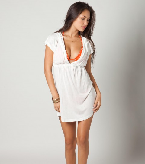 Surf O'Neill Crystal Coverup Dress.  100% Viscose.  Hooded. - $20.99