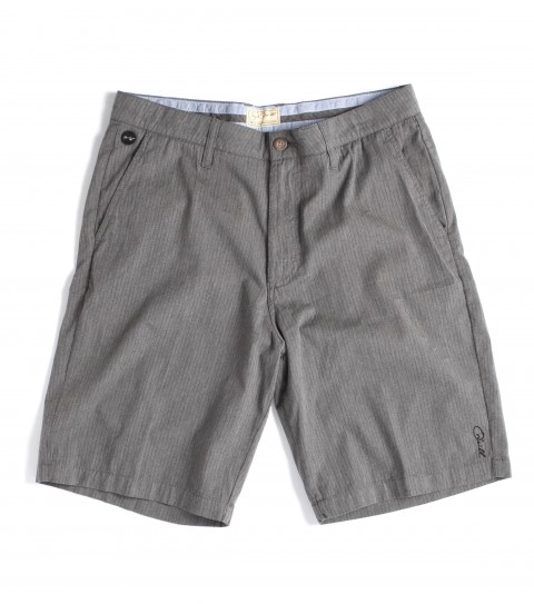 Surf Jack O'Neill Originals Collections 100% cotton stripe standard fit chino walkshorts; with peached finish; contrast interior waistband and pocket bags. Features button back pockets; neoprene accents; Jack O'Neill trims and embroideries. - $52.99
