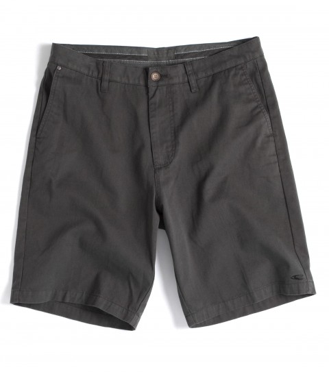 Surf Jack O'Neill Mason Shorts: 100% cotton twill standard fit chino walkshort; with all over garment dye. Contrast interior waistband and pocket bags; features button back pockets; neoprene accents; Jack O'Neill trims and embroideries. - $52.99