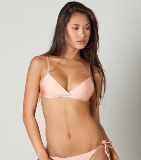 Surf O'Neill Heaven Bra Bikini Top.  89% Nylon / 11% Elastane jersey.  Solid bra top; adjustable straps; structured interior bra.Inspired by her world travels; this swimwear is a part of the Elyse Taylor Collection; dedicated to high-end fabrics and feminine details.  Simple and flattering; it is style with classic and sophisticated twist.As Seen In Cosmopolitan Magazine May 2012 Issue!! - $27.99