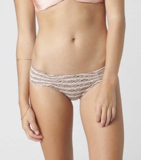 Surf O'Neill Paradise Cinch Bikini Bottoms.  89% Poly / 9% Elastane / 2% Crochet.  Crochet stripe cinch pant.Inspired by her world travels; this swimwear is a part of the Elyse Taylor Collection; dedicated to high-end fabrics and feminine details.  Simple and flattering; it is style with classic and sophisticated twist. - $9.99