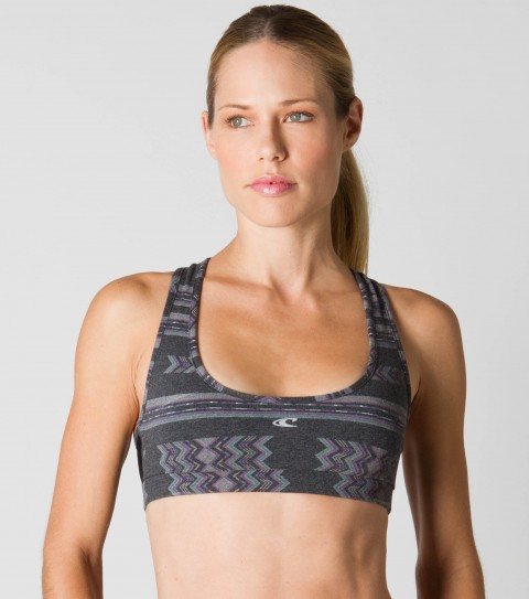 Fitness O'Neill 365 Endurance Bra.  Odor resistant treated fabric resists bacterial odors.  Wicking technology pulls moisture from your skin; keeping you more comfortable and dry.  Classic fitted sports bra; moderate support; mesh back for ventilation; low abrasion seamsBlack - 89% Poly / 11% Elastane; Grey - 93% Poly / 7% Spandex - $19.99