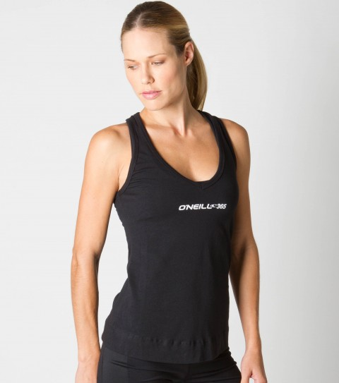 Surf O'Neill 365 Movement Layer Tank.  The perfect slim fit; lightweight layer with fashion twist at racer back.  Wicking technology pulls moisture from your skin; keeping you more comfortable and dry. Black - 60% Cotton / 40% Poly; White - 90% Poly / 10% Spandex - $27.99