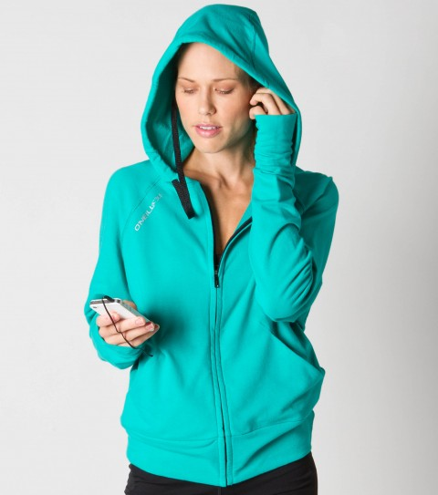 Entertainment O'Neill 365 Replay Wired Hoodie.  Wicking technology pulls moisture from your skin; keeping you more comfortable and dry.  HB3 Technology built-in machine-washable earbuds.  95% Cotton / 5% Lycra.  Stylized front zip hoodie; 3 piece hood; media pockets; thumbholes; reflective safety detail. - $65.99