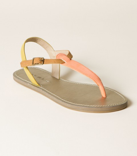 Surf O'Neill Trilogy Sandal.  Faux nubuck upper; color block strap detail; buckle closure; metallic faux leather sock; EVA midsole; custom rubber outsole. - $26.00