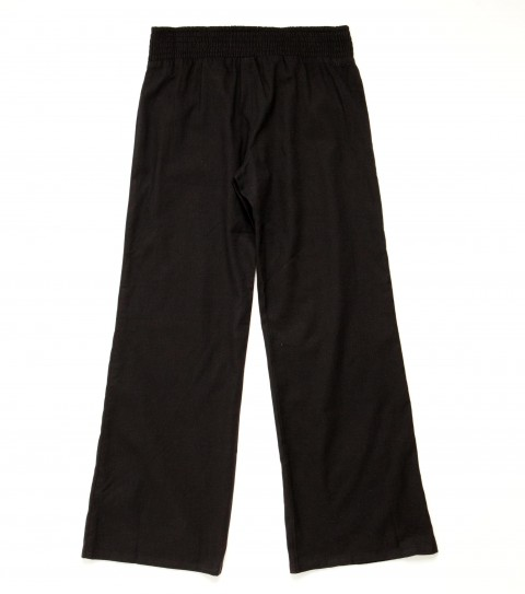 Surf O'Neill Girls Crystal Pants.  55% Cotton / 45% Linen.  26'' Inseam.  2'' Smocked waistband and tucks at hem. - $21.99