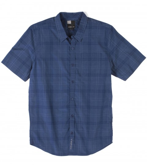 Surf O'Neill Delta Shirt.  55% Cotton / 45% Polyester.  Yarn dye woven with bio wash and mill finish. Standard fit and logo embroideries. - $36.99