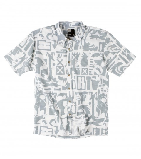 Surf O'Neill Oceanic Polynosic Shirt.  Polynosic blend printed short sleeve woven with sand wash. Logoembroideries and labels. - $62.00