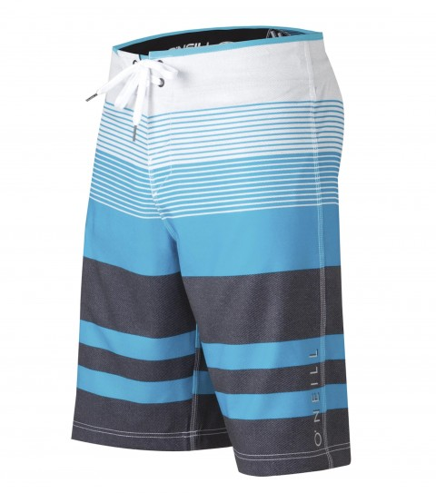 Surf O'Neill Orion Boardshorts. Epicstretch. 21'' Outseam boardshort features superfly closure; locking drawcord; welt zipper pocket; contrast waistband binding and screened logos.As Seen In Surfline's 2013 Boardshort Guide!! - $33.99