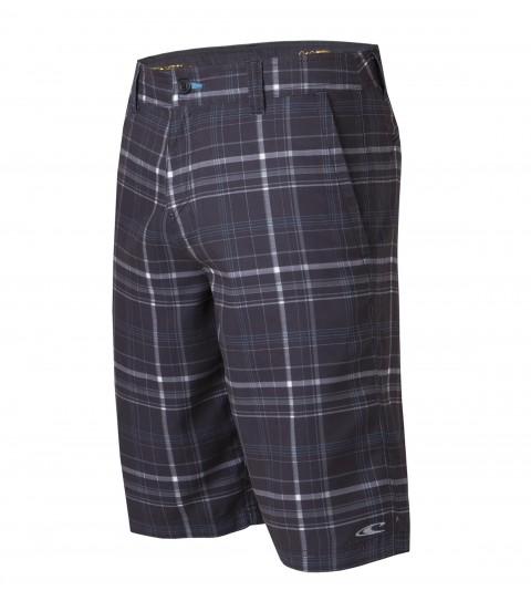 "Surf O'Neill Triumph Hybrid Shorts.  Ultrasuede.  22"" Outseam boardshort features zipper fly; internal waistband drawcord; front and back pockets; embroidered and screened logos. - $24.99"