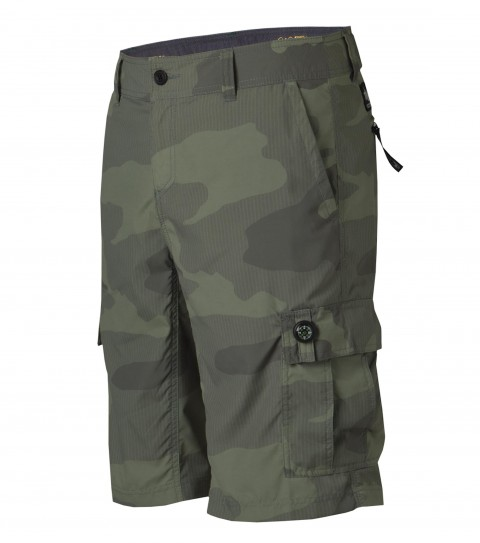 "Surf O'Neill Traveler Hybrid Shorts.  Nylon micro-ripstop.  21"" outseam boardshort features zipper fly; internal waistband drawcord; anti-microbial inseam panel; internal key pocket; hidden passport pocket; side cell-phone pocket; back stow pocket; side cargo pockets; front hand pockets; and screened logos. - $35.99"