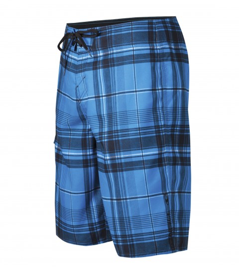 "Surf O'Neill Santa Cruz Plaid Boardshorts.  Ultrasuede.  22"" Outseam boardshort features comfort fly closure; side cargo pocket; embroidered and screened logo. - $17.99"