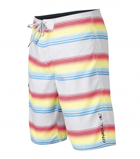 "Surf O'Neill Santa Cruz Stripe Boardshorts.  Ultrasuede.  22"" Outseam boardshort features comfort fly closure; side cargo pocket; embroidered and screened logos. - $17.99"