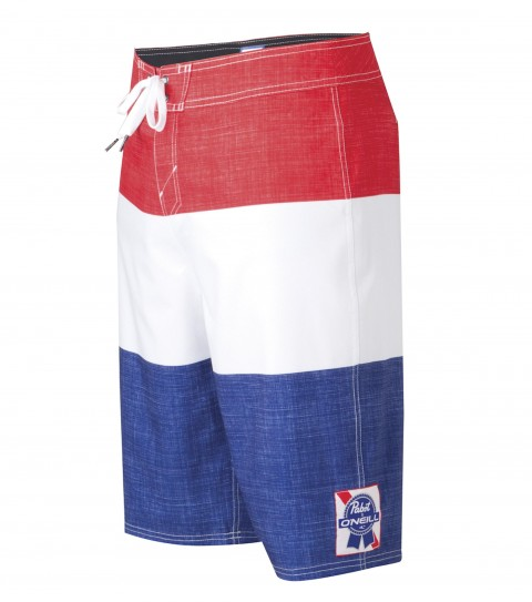 Surf O'Neill PBR Stripes Boardshorts.  Epicstretch.  21'' Outseam.  Comfort fly closure; mesh liner; back pouch pocket; woven patch; embroidery and screened logos. - $32.99