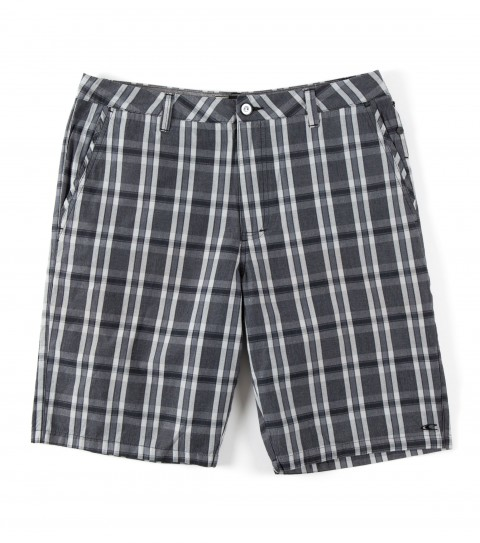 Surf O'Neill Vernon Shorts.  100% Cotton.  Yarn dye plaid walkshort with silicone wash. Standard fit with novelty buttons; hidden cell pocket; logo labels and embroideries and contrast interior waistband and binding. - $54.50