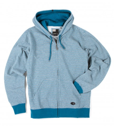 Surf O'Neill Fletcher Hoodie.  60% Cotton / 40% Polyester.  Yarn dye stripe heathered french terry with garment wash. Standard fit; hooded zipup; kangaroo pocket; logo labels. - $35.99