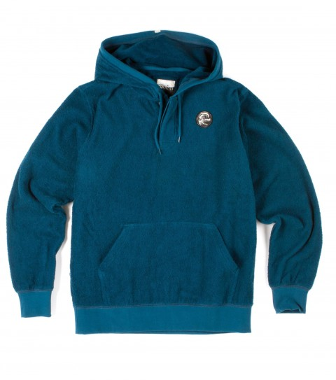 "Surf O'Neill Soaked Hoodie.  91% Cotton / 9% Rayon.   French terry ""beach towel"" fabric with silicone wash. Standard fit; hooded pullover; kangaroo pocket; logo labels. - $65.00"