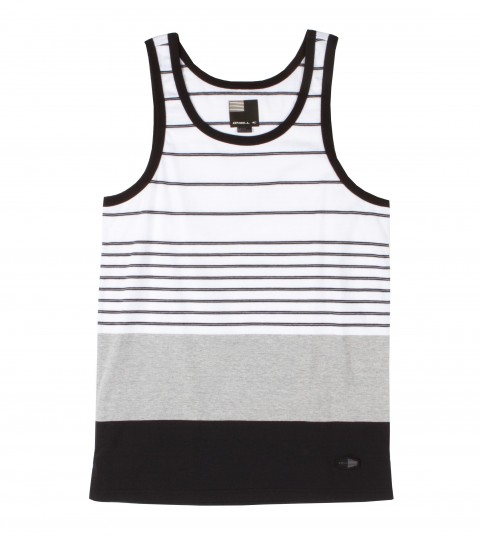 Surf O'Neill Visionary Tank.  100% Cotton jersey.  Engineered yarn dye stripe tank with garment wash. Modern fit with logo labels. - $29.50