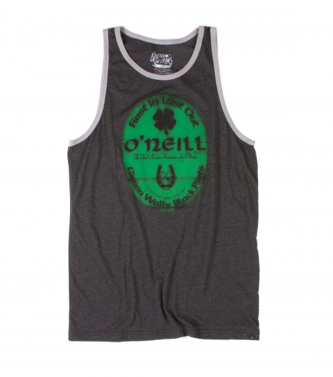 Surf O'Neill Dublin Tank.  50% Cotton / 50% Poly.  20 Singles classic fit heather tank with softhand screeenprint and attached hem label. - $24.50