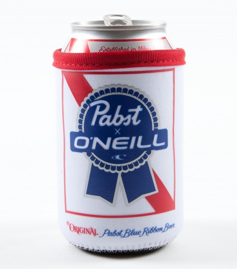 Surf O'Neill PBR Coozie.  Neoprene drink coozie with Pabst Blue Ribbon screenprinted logos. - $7.00