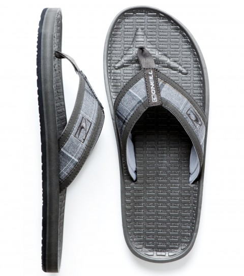 Entertainment O'Neill Koosh Patterns 2 Sandals. Yarn dyed fabric upper with synthetic nubuck leather binding, neoprene lining, contoured compression molded EVA footbed with arch support, embroidered logo, and rubber sponge outsole. - $20.99