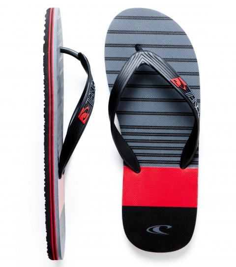 Entertainment O'Neill Profile Sandals.  Thermo plastic urethane (TPU) upper; EVA footbed with screenprinted art; raised logo on strap; rubber sponge outsole. - $8.99