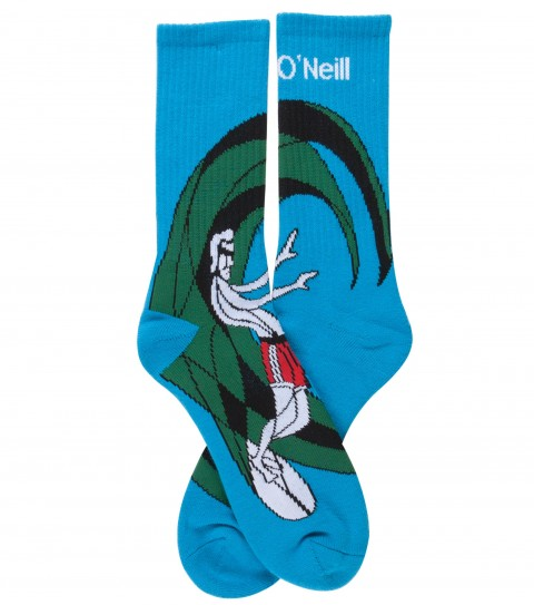 Surf O'Neill Barreled Socks.  Novelty jaquarded circle surfer sock. - $6.99